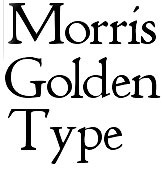 William Morris golden type