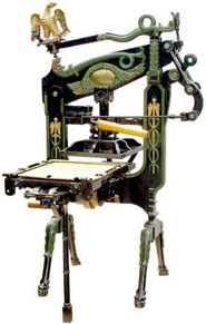 18th and 19th C  Advances in Printing : Presses, Typecasting
